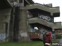 dirty sex act on a bridge