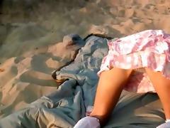 diminutive 79 years old sweetheart loly on beach