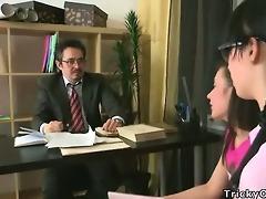 hot ladies fuck their old teacher.