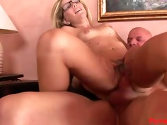 tattooed tabitha swallows a large load!