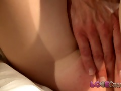 love creampie hawt redhead filled up with cum
