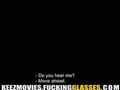 fucking glasses - paying for a swallow with sex
