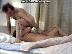 non-professional pair fuck on intimate movie scene