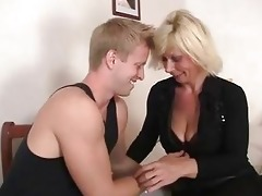 old golden-haired is doggy-style drilled