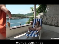 hawt young blond euro playgirl in bikini has