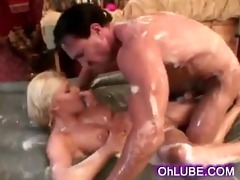 soapy youthful blond on a thick weenie