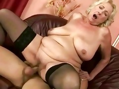 old wench receives drilled glamorous hard