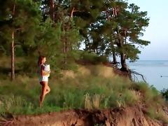 worthwhile youthful glamour teasing by the lake