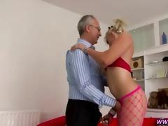 breasty slut screws old wang