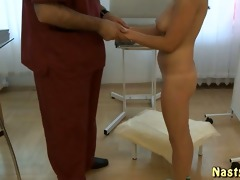 old gynecologist and a hot patient