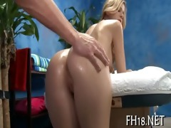 sexy chick plays with dick