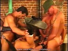 four sexy guys fuck adam