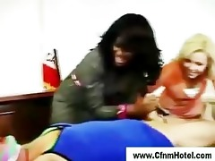 cfnm femdom judge punishes youthful man