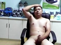 chinese bear boy jerkoff ejaculation