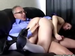 excited school gal acquires slit drilled by