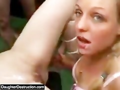 gal legal age teenager daughter widen her cum-hole