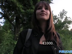 publicagent hd brunette hair with large natural