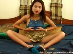 small oriental legal age teenager got a biggest