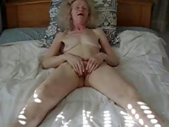 non-professional old lady masturbation