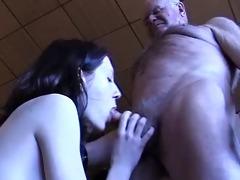 grandpapa receives a oral