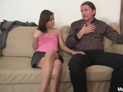 lustful gf jumps on her bf daddys schlong