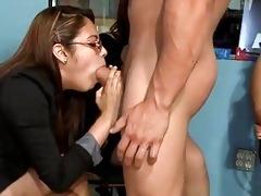 sexy youthful burnette sucks down each