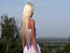 marvelous youthful blonde honey teasing out