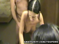 cute non-professional girlfriend sucks and fucks