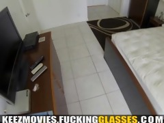 fucking glasses - secret pov with an escort