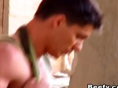 white meaty muscle dad screwed raw
