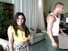 youthful latin chick annika adama picked up and