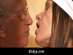 old guy pumps in wazoo a juvenile horny cleaning