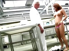 youthful arse redhead receives exposed in front