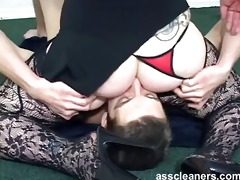 mistress demands youthful serf to thoroughly lick