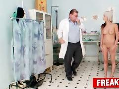 skinny honey karolina receives a finger in her