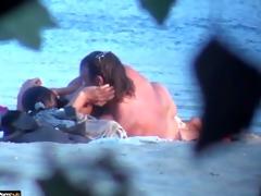 beach sex pair voyeured