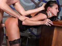 juvenile dark brown in nylons acquires drilled