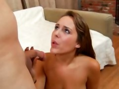 cute youthful model takes the hardcore ride of