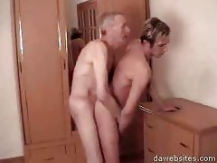 old guy bangs him from behind then gives head