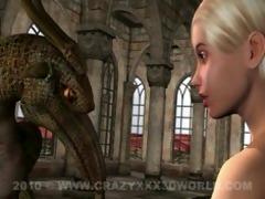 4d animation: fairy and gargoyle
