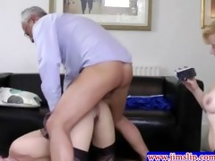 british chicks threeway joy with old fellow