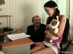 beautiful brunette receives screwed by her teacher