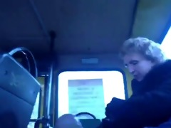 guy strokes next to old woman in bus bvr