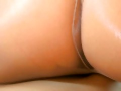 delicate youthful beauties with dong on bed