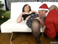 svetlana and her hot youthful male friend sit